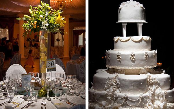 Aranjament floral masa si tortul mirilor nunta Irina si Catalin